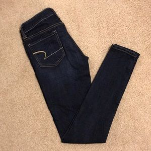 American Eagle 🦅 Stretch Jeggings in Dark Blue